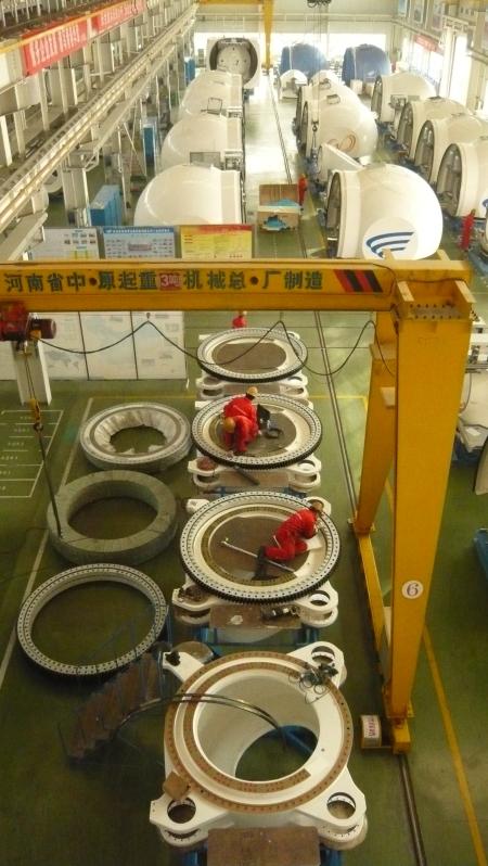 Wind turbine manufacturing in Gansu Province, China