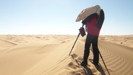 Desert outside Baotou, Inner Mongolia